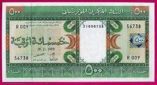 Mauritanie ( P#8a ) billet de banque 500 ouguiya ~ splendide ~ 1999 .
