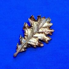 John Griffin Beautiful Burnished COPPER PLATED REAL OAK ( Quercus ) leaf brooch