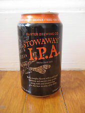 BAXTER STOWAWAY IPA black pirate skull ale BEER CAN Lewiston Maine ME brewing co