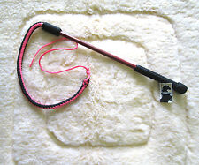 Horse Equine Cattle  4' Drover whip /Bull Whip /Training Whip  Wood Handle/Pink