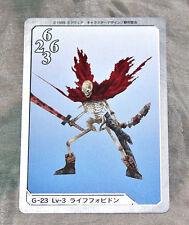 G-23 L3 Forbidden Final Fantasy VIII FF8 Triple Triad Playing Card Japan Import