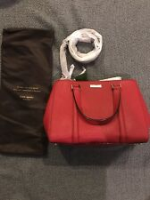 Kate Spade New York Red Newbury Lane Pillbox 617 Purse Bag Handbag Removable