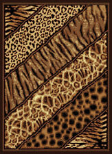 "Exotic Safari Multi Leopard Carpet 5x8 Skins Area Rug : Actual 5' 3"" x 7' 2"""