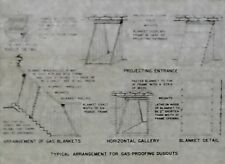 Diagram: Typical Arrangement for Gas-Proofing Dugouts, Magic Lantern Glass Slide