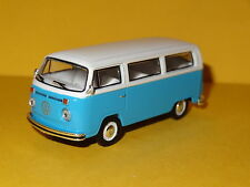 1977 VOLKSWAGEN TYPE 2 BUS BLUE / WHITE 1/64 SCALE LIMITED EDITION REAL RUBBER P