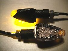 ► 4x LED yamaha v-max 1700,wr250x, Fazer s2, xj6 Devil Miniblinker carbone en verre clair