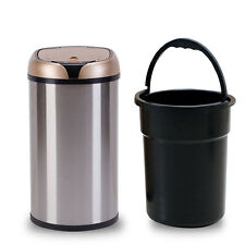 12L Touchless Automatic Hands-free Lid Opening Household Trash Can Rubbish Bin
