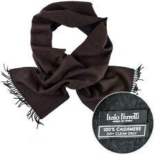 New ITALO FERRETTI Brown Black Cashmere Tassel Fashion Scarf Shawl Wrap NIB $495