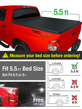 Premium Fits 2014-2017 Toyota Tundra 5.5ft/66in Short Bed Tri-Fold Tonneau Cover