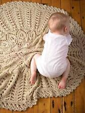 Circular Leaf Flower Little Branches Baby Blanket Chunky Wool  Knitting Pattern