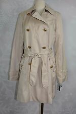Vince Camuto Double-breasted Contrast-trim Bone colored trench  size XXL