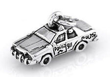 STERLING SILVER POLICE SQUAD CAR CHARM/PENDANT