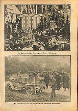 Mgr Dubourg Fêtes de Guingamp /Mitrailleuse Manoeuvres Soldats 1910 ILLUSTRATION