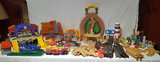 Huge Lot Geotrax  Geo Trax Fisher Price Trains Tracks, Buildings, Accessories
