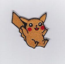 PIKACHU POKEMON JAPANESE MANGA Embroidered Iron On /Sew On Patch
