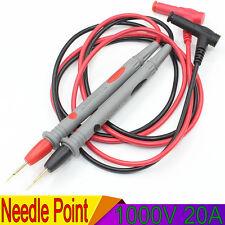 1000V 20A Needle Point Multi Meter Test Probe/Lead For Digital Multimeter Fluke
