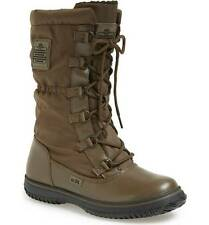 Coach 'Sage' Nylon Leather Lace Up Snow Boots  Fatigue (olive green) 7 $195