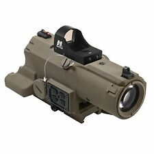 VISM by NcSTAR ECO 4X34 PRISMATIC SCOPE & TACTICAL RET/BLUE ILL./GREEN LASER