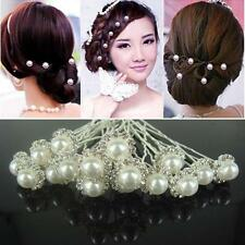 20Pcs Fashion Jewelry Bridal Pearls Flower Headband Hair Pins Clips Hair Jewelry