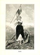 Tyrolia von Mathias Schmid 1890 Holzstich Tirol K&K Monarchie 5