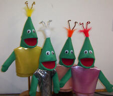 One Green Alien Kid Puppet-outer space,ministry, education, entertainment