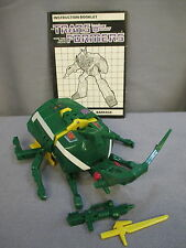 """Transformers G1 Deluxe Insecticon """"BARRAGE"""" Complete *VINTAGE* 1985"""