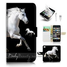 iPhone 5 5S Flip Wallet Case Cover! P0944 White Horse