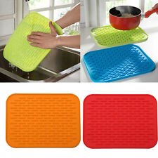 Holder Mat Silicone Kitchen Trivet Pot Tray Straightener Heat Non-slip Resistant