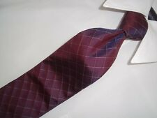 "Excellent Hugo Boss Purple Metallic Woven Skiny Silk Tie 57""X 3"""