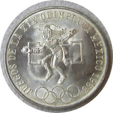 elf Mexico 25 Pesos 1968 Silver  Ancient Ball Player  Olympic Rings