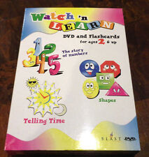 New Factory Sealed Set of Watch & Learn Dvd and Flash Cards Ages 2 +