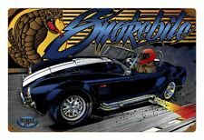 Muscle Car Dragster Shelby Copra Racing Vintage Comic Blechschild Schild Groß
