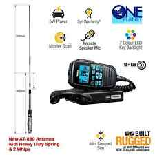 UNIDEN UH8060S UHF CB 80CH RADIO & FREE AT-880 6.5dB TWIN PACK ANTENNA (2 Whips)