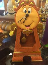 "DISNEY PARKS BEAUTY AND THE BEAST COGSWORTH CLOCK WORKING 10"" Figure NEW IN BOX"