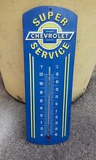 CHEVROLET SERVICE METAL SIGN THERMOMETER 12 BY 4 INCHES VINTAGE LOOK GARAGE