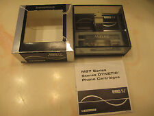 SHURE M97 CART & GENUINE SHURE N97HE HYPERELLIPTICAL ERA IV STYLUS IN CASE + BOX