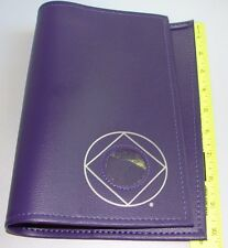 Narcotics Anonymous NA Basic Text Book COVER Coin Holder PURPLE 6th Medallion