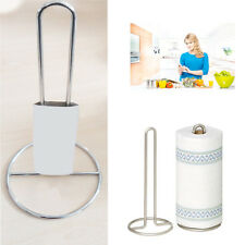 Vertical Kitchen Towel Paper Roll Holder Table Tissue Poll Metal Elegant Stand