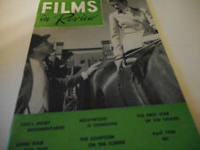 Films In Review Magazine April 1956 Alec Guinness Grace Kelly Nancy Carroll