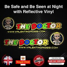 Handed Pair Valentino Rossi The Doctor Reflective Decals Sticker 200mm F535
