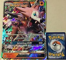 Pokemon OVERSIZED/JUMBO Lycanroc GX SM14 Promo Card w/ Top Loader