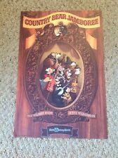 "New Disney Poster.  12"" X 18"".  Country Bear Jamboree."