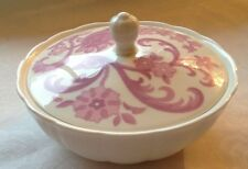 Wedgwood Pink Tapestry Lidded Dish Created for Elizabeth Arden