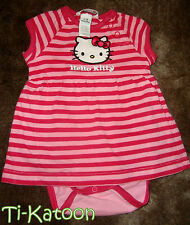 HELLO KITTY 2/4 MOIS : ROBE ETE ROSE BARBOTEUSE H&M  TBE !!