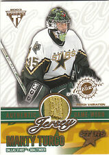 2002/3 Private Stock Titanium Patch Variation card Marty Turco 151/210 Stars