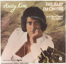 ANDY KIM--PICTURE SLEEVE ONLY---(FIRE,BABY I'M ON FIRE)--PS--PIC--SLV