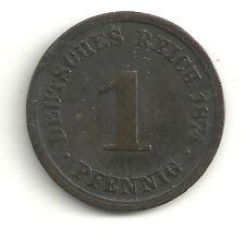 VERY NICE TOUGHER DATE 1874 A GERMAN - GERMANY 1 PFENNIG-DEUTSCHES REICH!!-O928