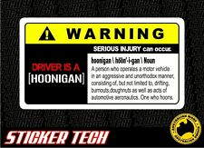 WARNING HOONIGAN HOON VINYL STICKER DECAL SUITS JDM DRIFT RACE CAR KEN BLOCK