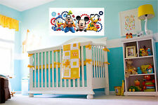 Mickey Mouse & Friends Repositionable Reusable Color Wall Sticker Wall Art Mural
