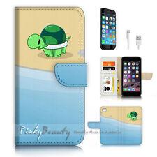 iPhone 6 6S (4.7') Flip Wallet Case Cover P3195 Little Turtle